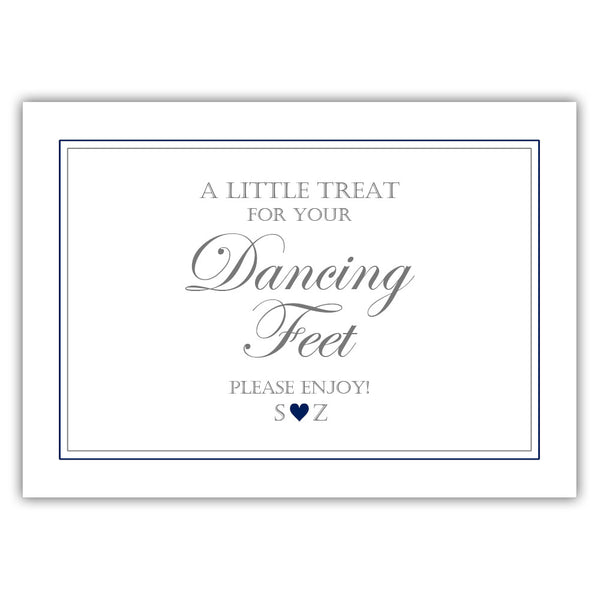 "Wedding dancing shoes sign - 5x7"" / Navy - Dazzling Daisies"
