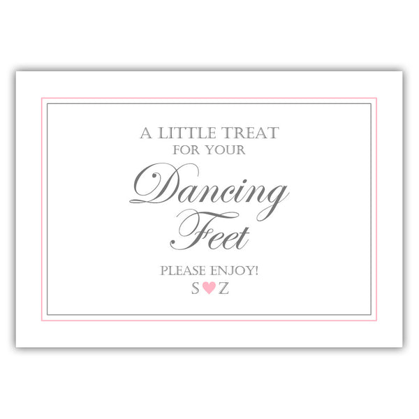 "Wedding dancing shoes sign - 5x7"" / Pink - Dazzling Daisies"
