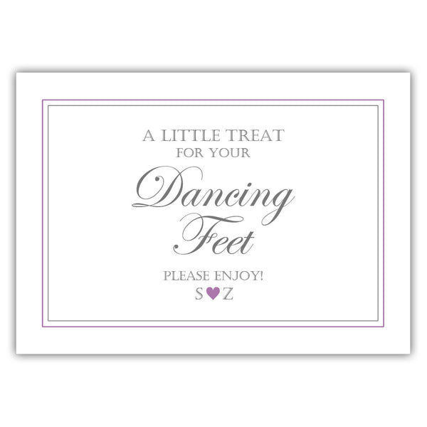 "Wedding dancing shoes sign - 5x7"" / Plum - Dazzling Daisies"