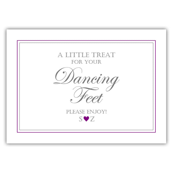 "Wedding dancing shoes sign - 5x7"" / Purple - Dazzling Daisies"