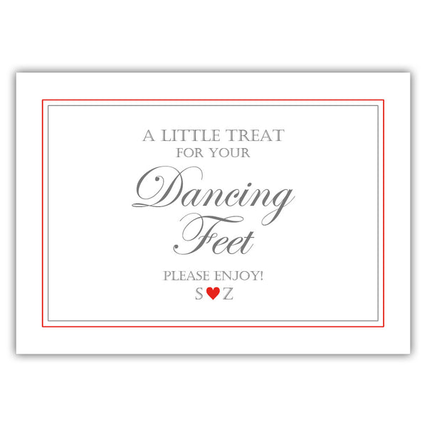 "Wedding dancing shoes sign - 5x7"" / Red - Dazzling Daisies"