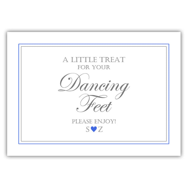 "Wedding dancing shoes sign - 5x7"" / Royal blue - Dazzling Daisies"