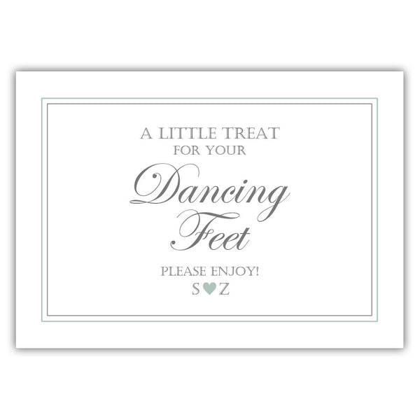 "Wedding dancing shoes sign - 5x7"" / Sage - Dazzling Daisies"