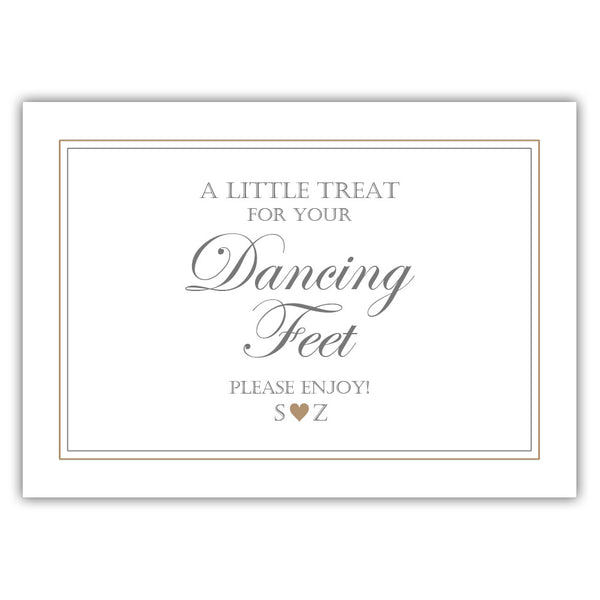 "Wedding dancing shoes sign - 5x7"" / Sand - Dazzling Daisies"