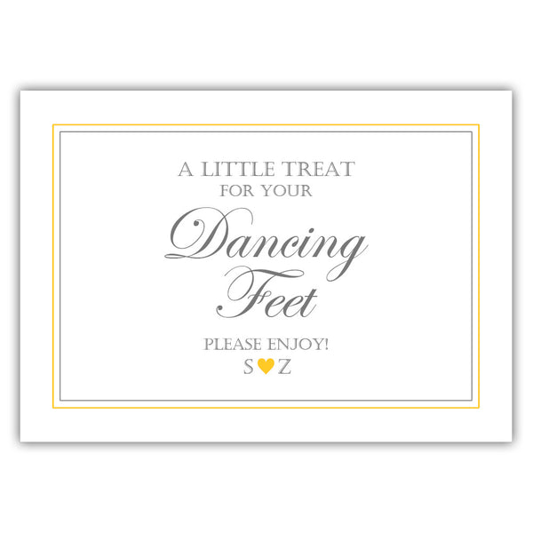 "Wedding dancing shoes sign - 5x7"" / Yellow - Dazzling Daisies"