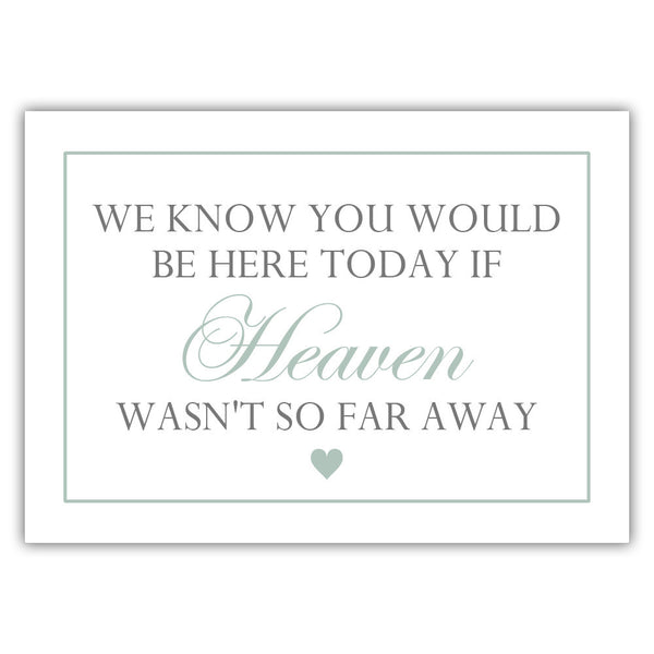 "We know you would be here today sign - 5x7"" / Sage - Dazzling Daisies"