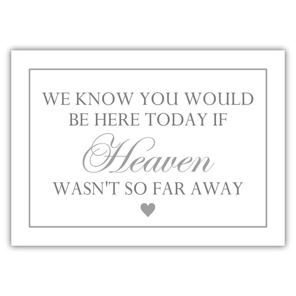 "We know you would be here today sign - 5x7"" / Silver - Dazzling Daisies"