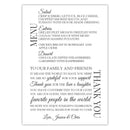 Wedding menu thank you cards - Dark gray - Dazzling Daisies