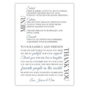 Wedding menu thank you cards - Slate - Dazzling Daisies