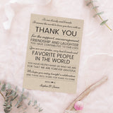 Wedding reception thank you cards 'Rustic Lines' -  - Dazzling Daisies