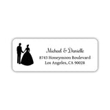 Wedding return address labels 'Bride and Groom' - Black - Dazzling Daisies