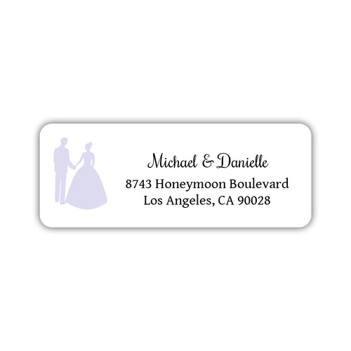 Wedding return address labels 'Bride and Groom' - Lavender - Dazzling Daisies