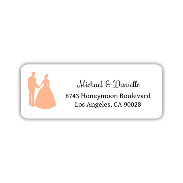 wedding return address labels couple dazzling daisies