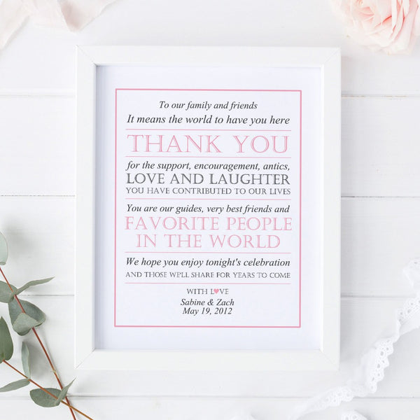 Wedding thank you sign -  - Dazzling Daisies