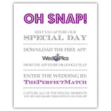 Wedpics sign 'Oh snap' - 5x7