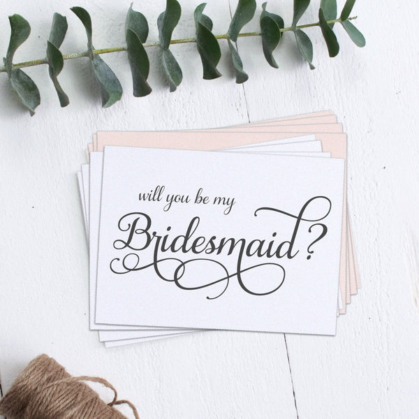 Bridesmaid cards 'Elevated Elegance' (set of 4) -  - Dazzling Daisies