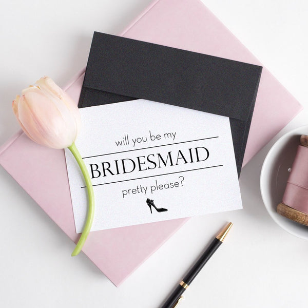 Will you be my bridesmaid card 'Pretty Pump' -  - Dazzling Daisies