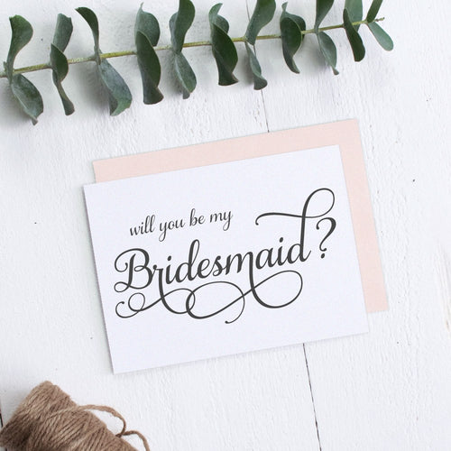 Will you be my bridesmaid card 'Excellent Elegance' -  - Dazzling Daisies