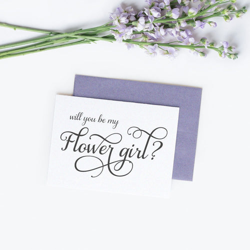 Will you be my flower girl card 'Excellent Elegance' -  - Dazzling Daisies