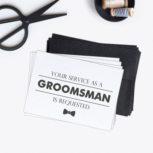 Groomsman cards 'Modern Lines' (set of 4) -  - Dazzling Daisies