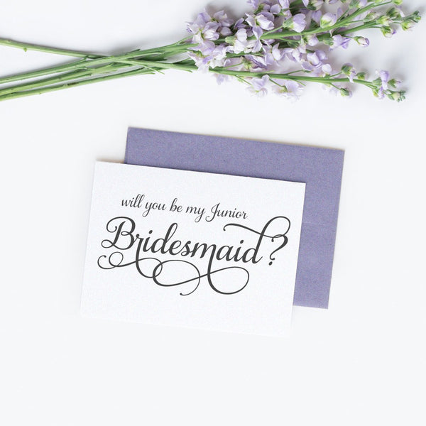 Will you be my junior bridesmaid card 'Excellent Elegance' -  - Dazzling Daisies