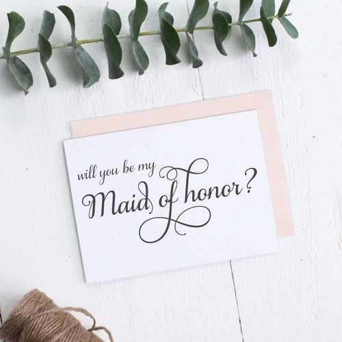 Will you be my maid of honor card Elevated Elegance -  - Dazzling Daisies