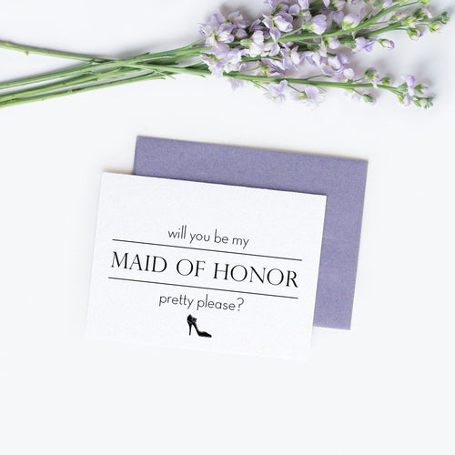 Will you be my maid of honor card 'Pretty Pump' -  - Dazzling Daisies