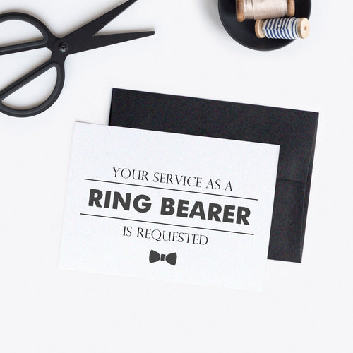 Ring bearer card 'Modern Lines' -  - Dazzling Daisies