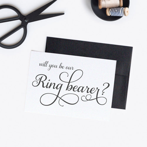 Will you be our ring bearer card Elevated Elegance -  - Dazzling Daisies