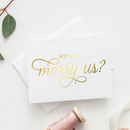 Will you marry us card 'Luxury Love' - Gold foil - Dazzling Daisies