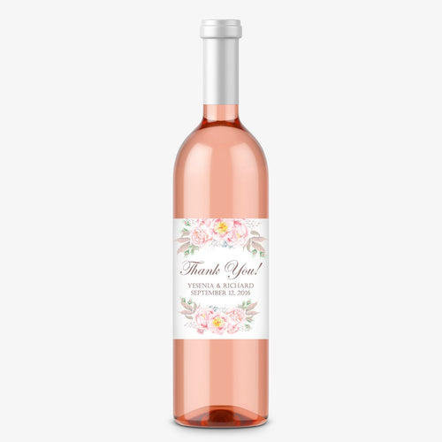 Wine bottle labels 'Floral Romance' -  - Dazzling Daisies