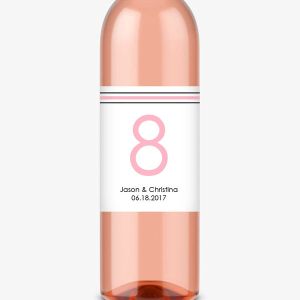 Wine bottle table numbers 'Straight Forward' - 1-4 / Pink - Dazzling Daisies