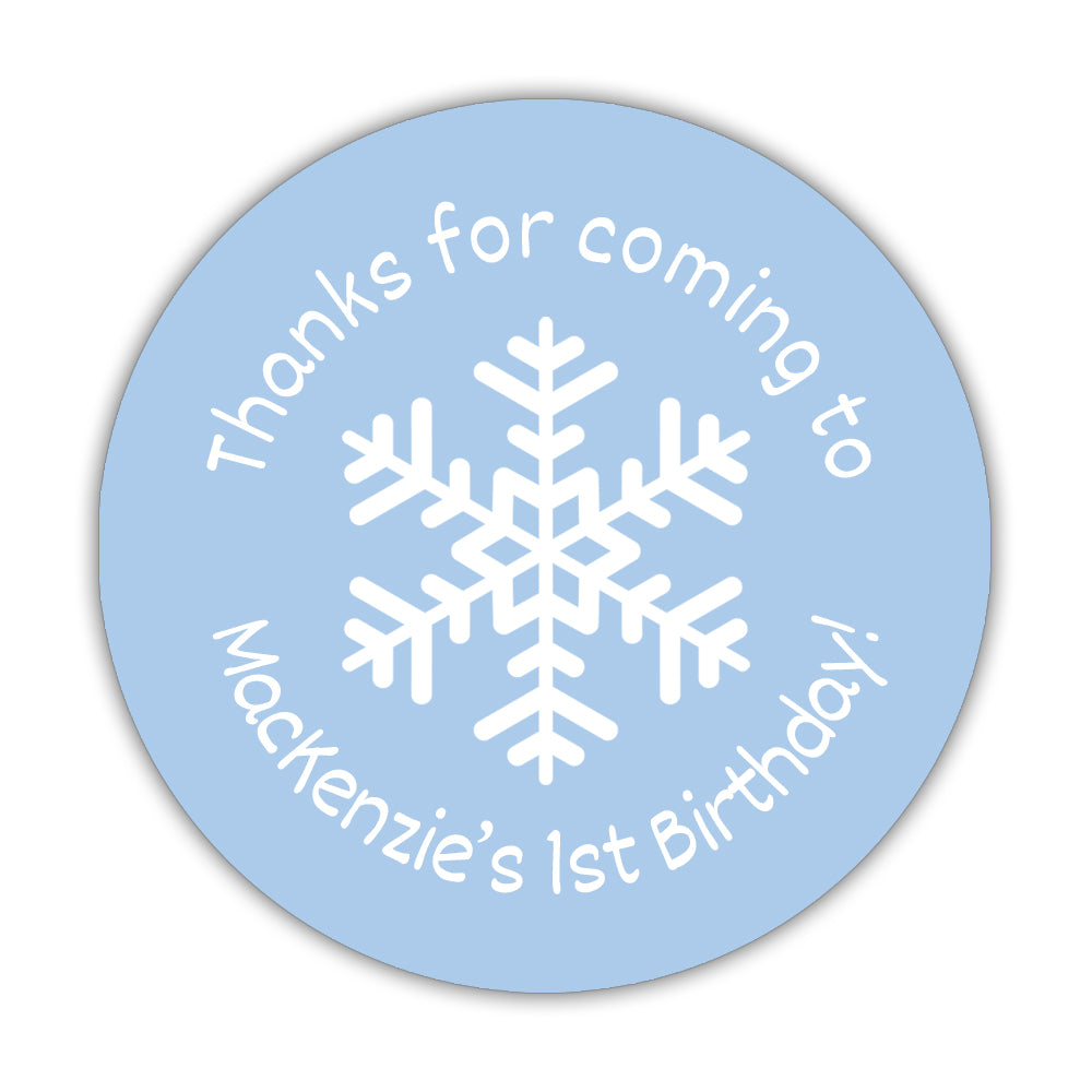 Winter birthday stickers