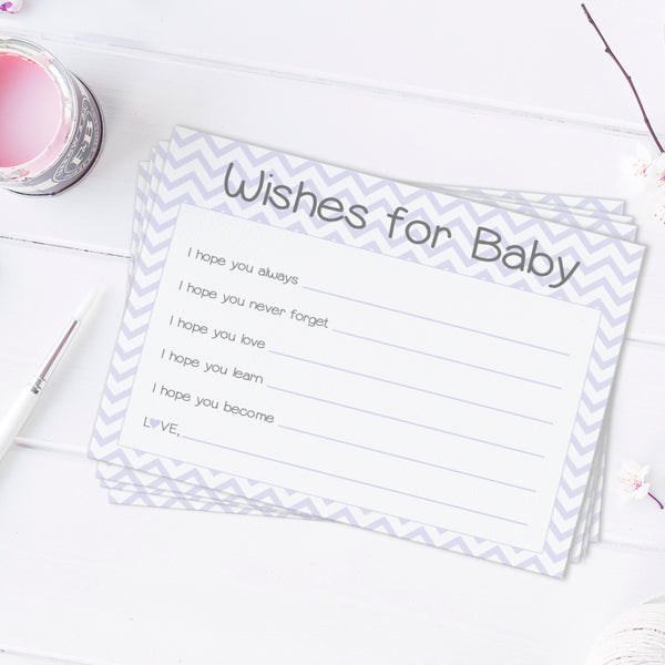 Wishes for baby cards 'Chevron Sweetness' -  - Dazzling Daisies