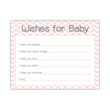 Wishes for baby cards 'Chevron Sweetness' - Blush - Dazzling Daisies