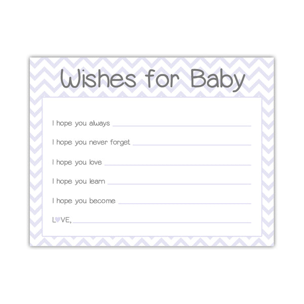 Wishes for baby cards 'Chevron Sweetness' - Lavender - Dazzling Daisies