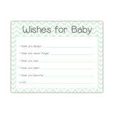 Wishes for baby cards 'Chevron Sweetness' - Mint - Dazzling Daisies