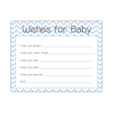 Wishes for baby cards 'Chevron Sweetness' - Steel blue - Dazzling Daisies