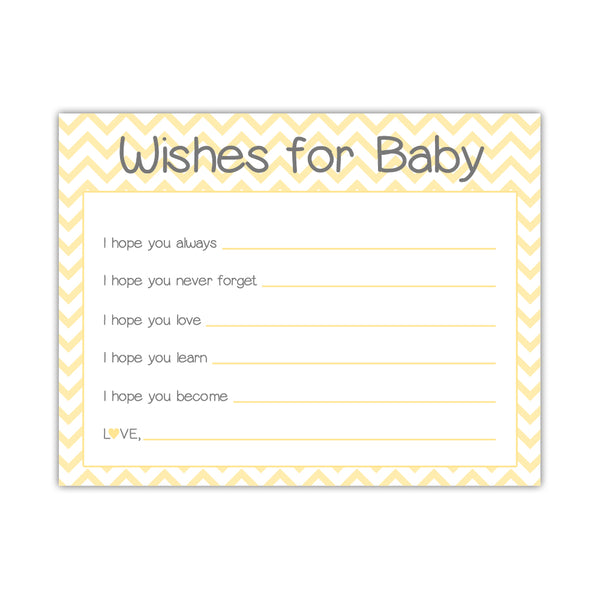 Wishes for baby cards 'Chevron Sweetness' - Yellow - Dazzling Daisies