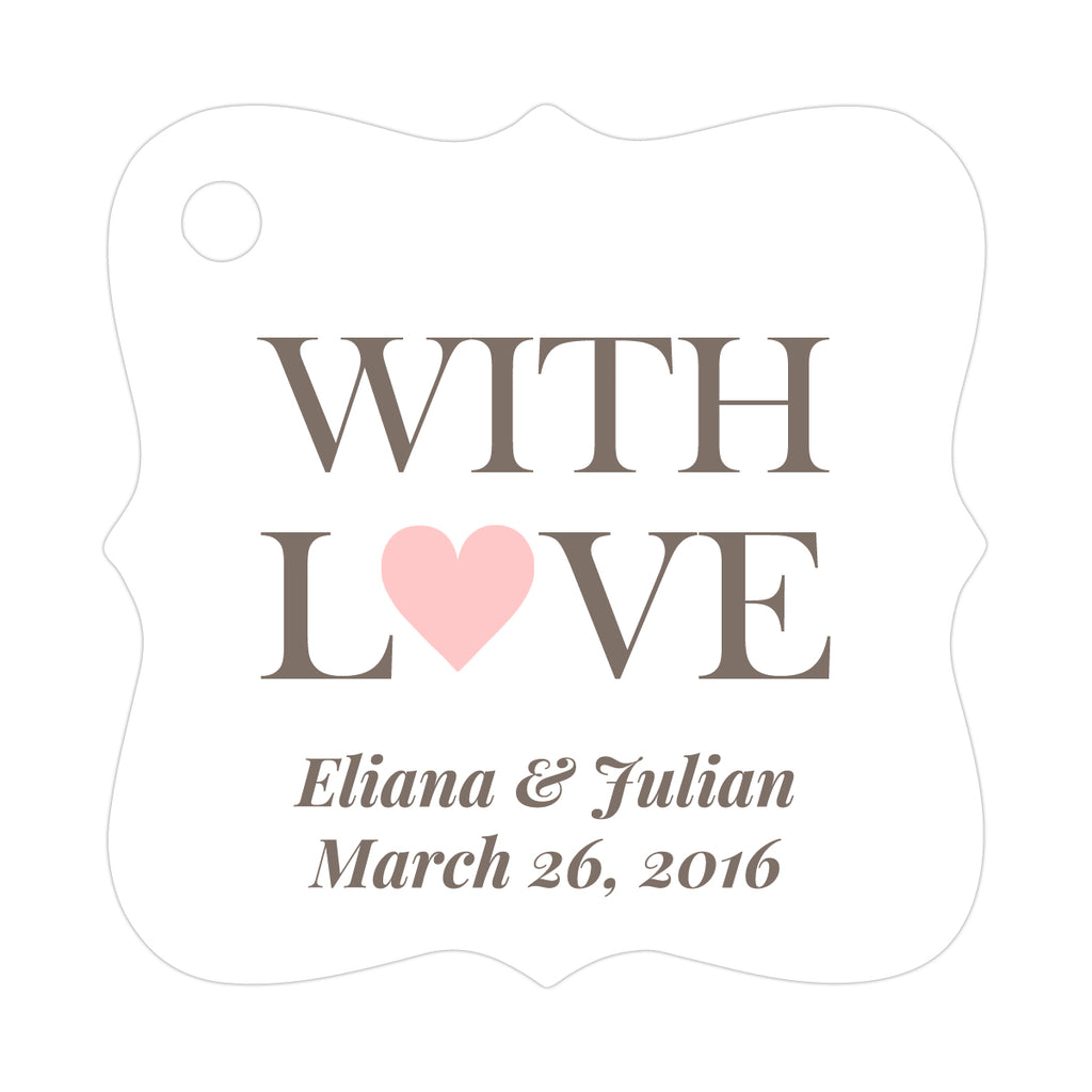 With love tags - Gold - Dazzling Daisies