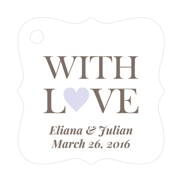 With love tags - Lavender - Dazzling Daisies