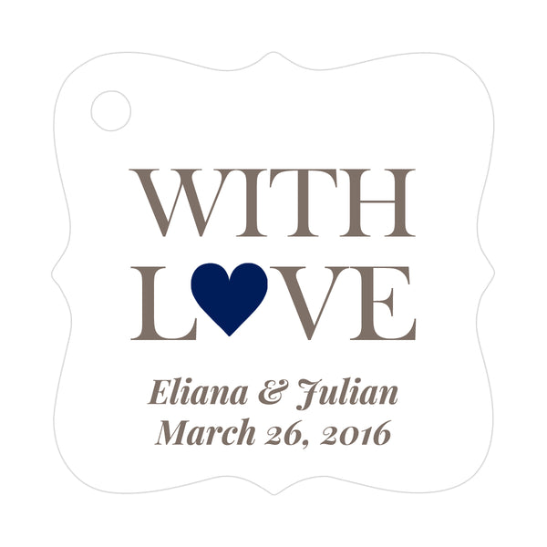 With love tags - Navy - Dazzling Daisies
