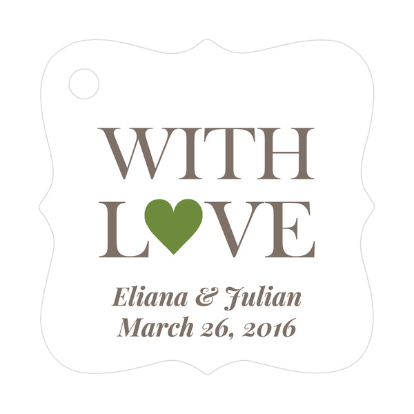 With love tags - Olive - Dazzling Daisies