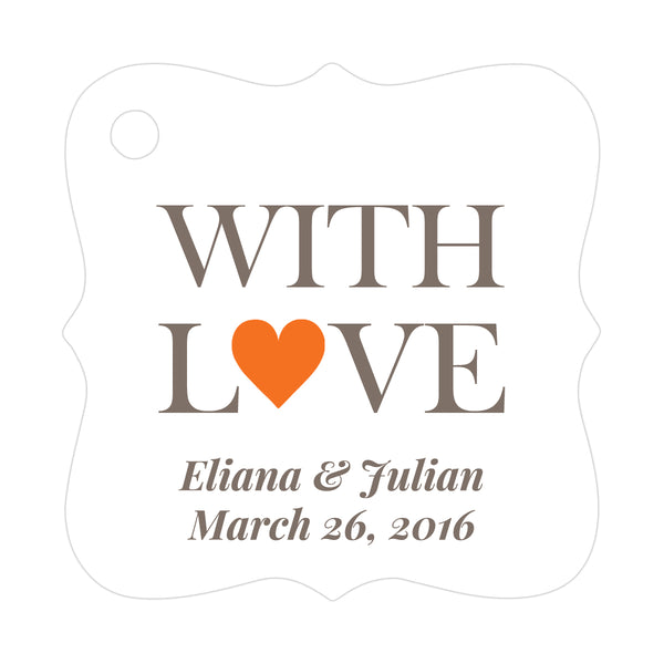 With love tags - Orange - Dazzling Daisies