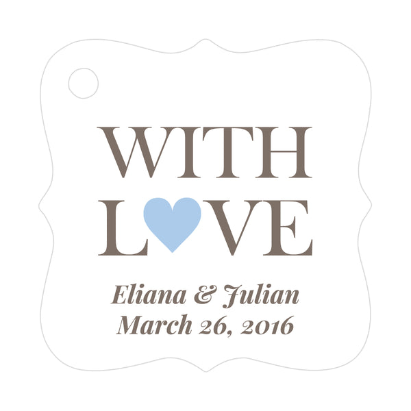 With love tags - Steel blue - Dazzling Daisies