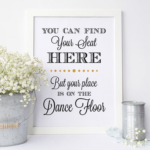 Find your seat sign -  - Dazzling Daisies