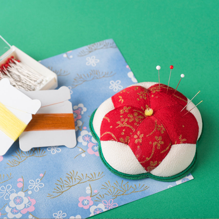 Chirimen pin cushion, Japanese Fabric Crafts