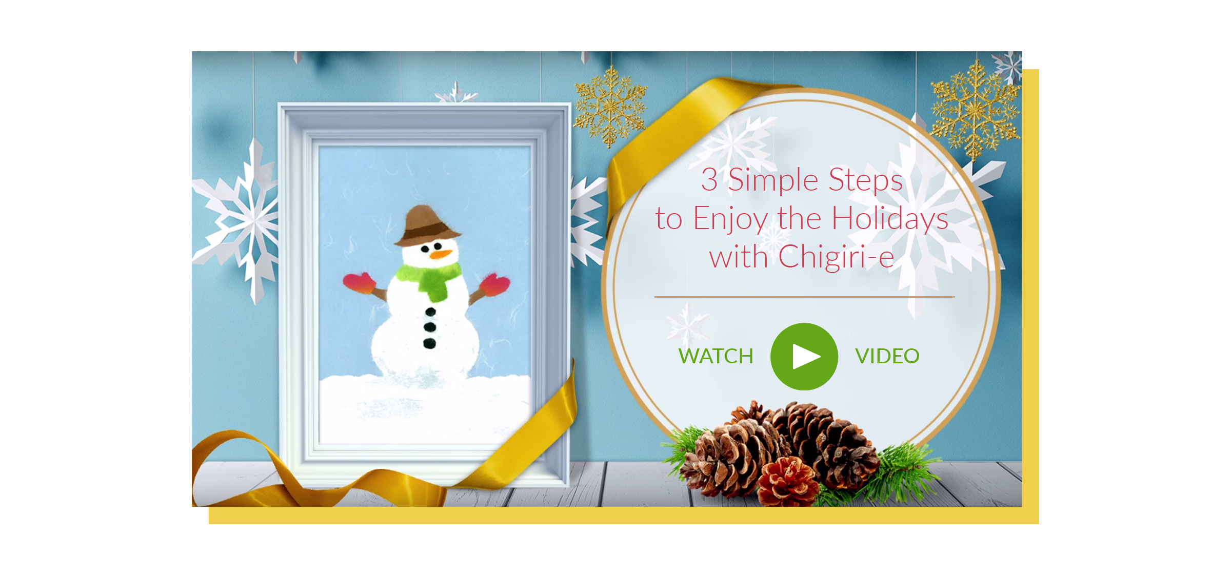 3 Simple Steps to Enjoy the Holidays with Chigiri-e | Watch Video