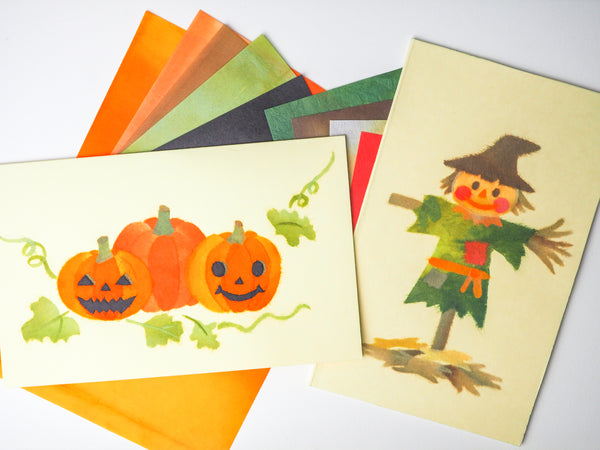 DOUBLE the FUN with TWO CHIGIRI-E KITS! Let's Carve Pumpkins! & Anything But Scary Scarecrow