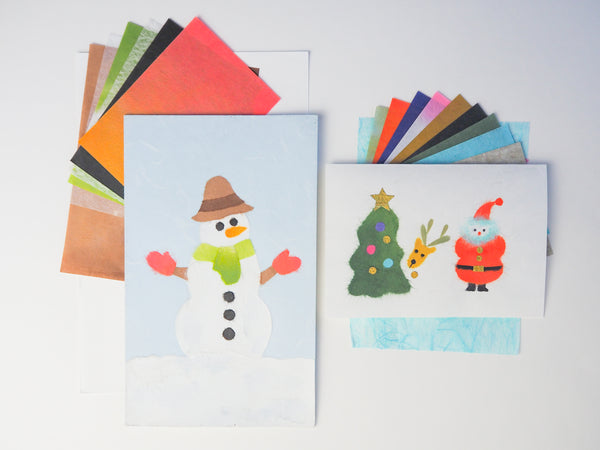 DOUBLE the FUN with TWO CHIGIRI-E KITS! Santa and Reindeer & Snowman